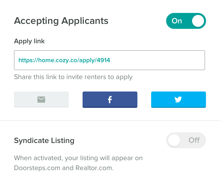 Share Your Listing