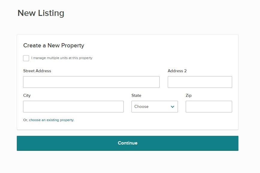 Listing Address New Listing