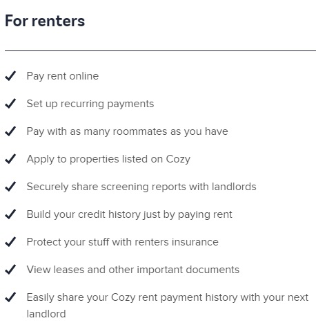 Benefits For Renters