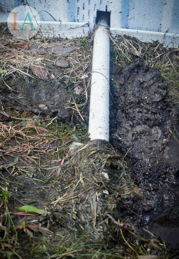 Clogged HVAC drain line