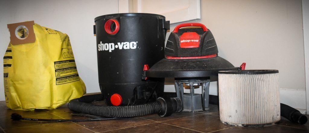 Shop vac to clean HVAC drain line